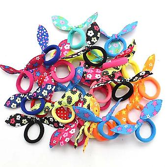 20pcs Cute Headband Ring Scrunchie, Ponytail Holder - Hair Accessories