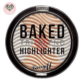 Barry M 3 X Barry M Bagt Tri-Blend Highlighters - Sølv Solhverv
