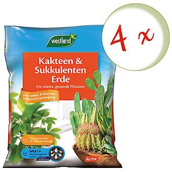 Sparset: 4 x WESTLAND® Cacti and Succulentearth Earth, 4 litres