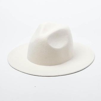 Ženy 100% vlna plstené klobúky, Široký okraj Fedoras Cap pre svadobnú hosti