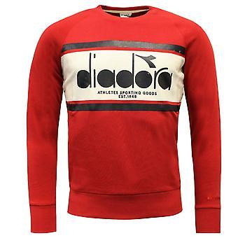 Diadora Sportswear Herren Crew Spectra Sweatshirt Pullover Rot 502.173795 C7523 A49A