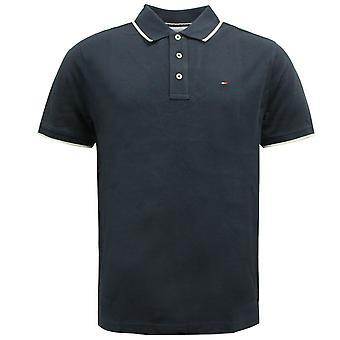 Tommy Hilfiger Golf Short Sleeved Plain Mens Polo Shirt Navy TM416P-E 31 A41D