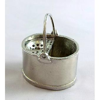 Dolls House Warwick Accessoire miniature Old Fashioned Metal Pewter Mop Bucket