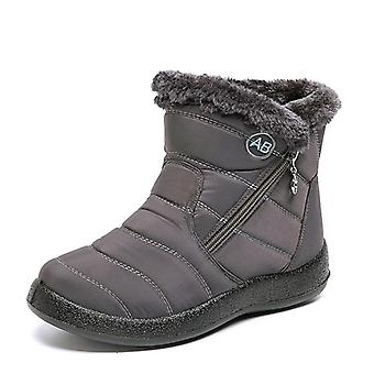 Waterproof Snow Plush Winter Warm Ankle Boots Shoes
