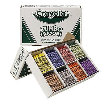 Crayon Classpack, Tamaño Jumbo, 8 Colores, 200 Conde
