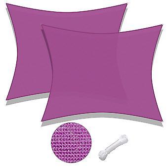 Yescom 2 Pack 20x16 Ft 97% UV Block Rectangle Sun Shade Sail HDPE Cover Net Canopy Pool