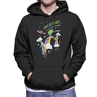 Trolls Good As Gone Rainbow Roller Skating Men's Hooded Sweatshirt