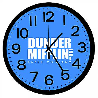Kontoret Dunder Mifflin Papir Selskapet Veggklokke