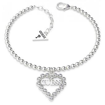 HEART ROMANCE Gæt smykker - Swarovski hjerte rhodi stål armbånd og Swarovski krystaller