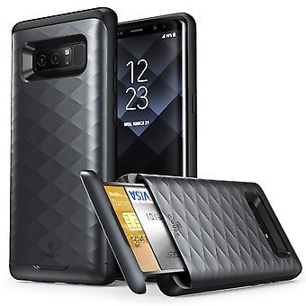 Galaxy Note 8 Case, Clayco Argos Series Premium Protective Wallet Case-Black