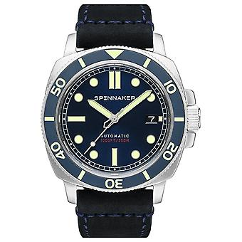 Spinnaker hull watch for Analog Man's Automatic with Cowskin Bracelet SP-5088-02