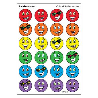 Colorful Smiles/Tutti-Frutti Stinky Stickers, 96 Ct.