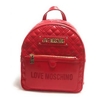 תיק נשים אהבה Moschino תרמיל מרופד עור מזויף אדום B21mo140