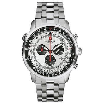 Sveitsisk alpinmilitær 7078.9132 kronograf menns klokke 45 mm