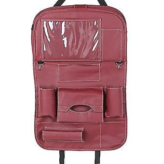 Car backseat organizer pu leather auto back seat cushion