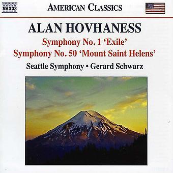 A. Hovhaness - Alan Hovhaness: Symphony No. 1 Exile; Symphony No. 50 Mount Saint Helens [CD] USA import