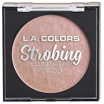 L.A. Colors Stroboscopique Illuminating Powder Rose clignotant