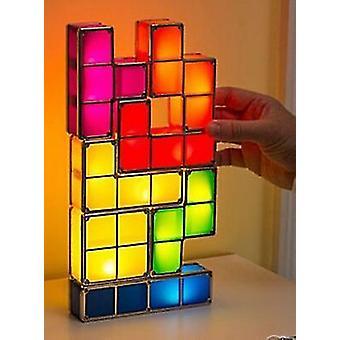 Les enfants jouent à Toy Led Light 3d Tetris Puzzle Light