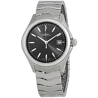 Ebel Wave Anthracite Dial Stainless Steel Men's Watch 1216239