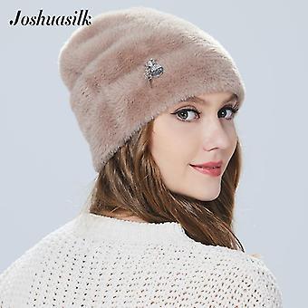 Зимняя женщина шляпа, faux меха и Angora Кролики Мягкий и нежный кулон