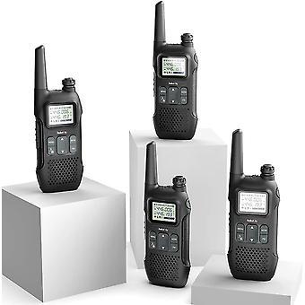RadHanFeiity PR-T1 PMR Funkgert Set mit LC-Display, Walkie Talkie 4KM Reichweite, 16 Kanle PMR446