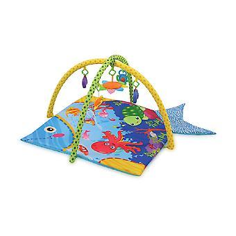 Lorelli Crawling Blanket Spel Mat Ocean Spela Bow Mirror skallra färgglada färger