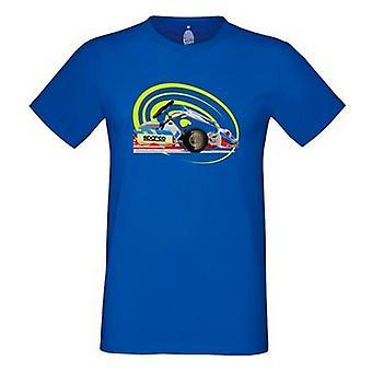 Men�s Short Sleeve T-Shirt Sparco Tron Electric blue/M
