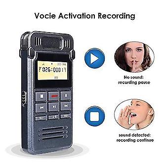 A-b تكرار usb شحن الضوضاء المصغرة إلغاء الصوت المحمول المحاضرات mp3 لاعب dictaphone 8gb مؤتمر مسجل صوتي