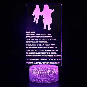 Lampy 3D z pilotem, lampa LED 16 Kolor Światło Ściemniane Przełącznik dotykowy USB / Wkład baterii, Dekoracja urodzinowa Świąteczny prezent dla dziecka Teen Woman Man-#875