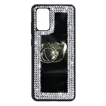 Phone Case Mirror Diamond Crystal Cover + Ring Holder For Samsung S20+