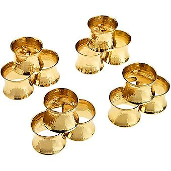 Wokex Serviettenring-Set 12 stuck Metall Solide Gehmmert Handgemacht Valentinstag Dekoration fr
