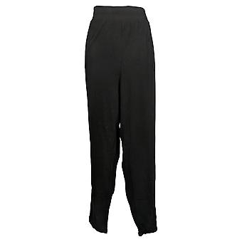 Chiunque pantaloni da donna più accogliente maglia maglia foldover Jogger Nero A388558