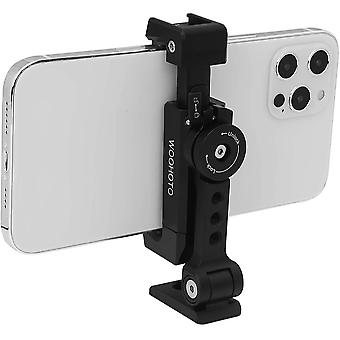 FengChun Metall-Stativ für Mobiltelefone mit Kaltschuh, um 360 Grad Drehbar und Neigbar,