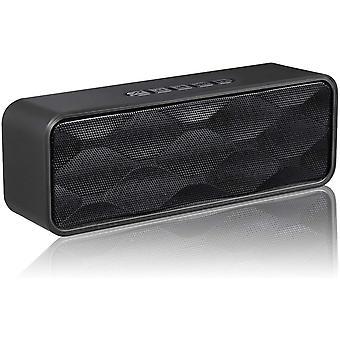Przenośny głośnik Bluetooth S3, subwoofer Bluetooth 4.2, głośnik bezprzewodowy, dźwięk stereo HD, telefon głośnomówiący, radio FM, obsługa kart TF, dla iPhone'a, iPada, Androida i innych (czarny)