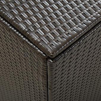vidaXL Tuinbox Poly Rotan 180x90x75 cm Bruin