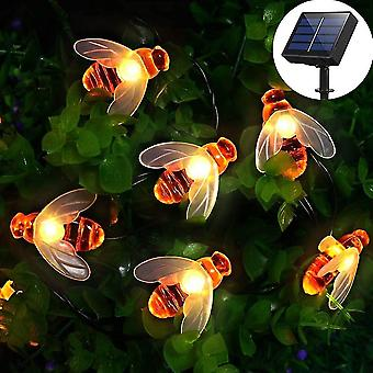 Outdoor string lights solar lamp50 led 7 m 8 modes waterproof ambient lighting pretty decoration light (warm white) dt5932