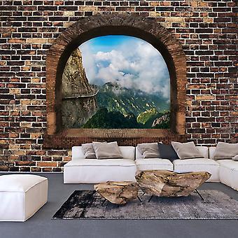 Itseliimautuva fototapetti - Stony Window: Mountains