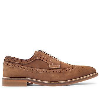 Mens Hudson London Claude Suede Business Work Office Smart Brogue Shoes