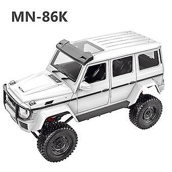 Mn86k 1/12 2.4g rc auto a quattro ruote motrici arrampicata fuoristrada veicolo giocattolo g500 versione assemblaggio simulare auto giocattolo bambini regalo
