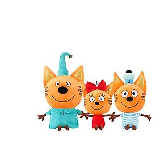Kid E Cats Russian My Family Three Happy Cats Peluche Doll Cookie Candy Pudding Happy Toy Children Cadeau