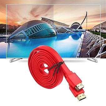 Premium Flat Noodle Hdmi Cable Highspeed For Hdmi 3d Dvd Hdtv 1.5m 3m 5m