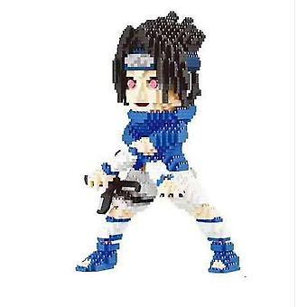 Sasuke Bouwstenen Puzzel Micro 3d Figuren Naruto Uchiha Educatief Baksteen Speelgoed