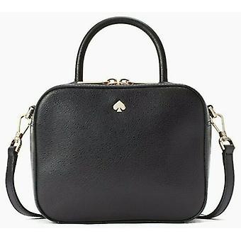 Kate Spade Maddy Camera Black Refined Leather Bag WKRU6829
