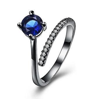 INALIS אופנה Zircon אקדח שחור מצופה אצבע טבעת תכשיטים מתנה לנשים