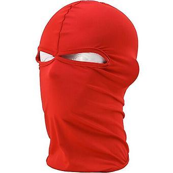 (Rot) Sturmhaube Helm Winter Sas Style Army Winddichter Hals Warm Vollgesichtsmaske