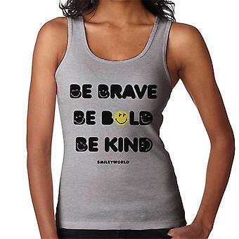 Smiley World Be Brave Be Bold Be Kind Women's Vest