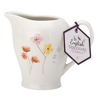 English Tableware Co. Pressed Flowers Creamer Jug