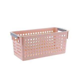 3Pcs Plastic Desktop Storage Basket Rectangular Bathroom Portable Storage Box Bath Basket Kitchen