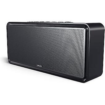 DOSS SoundBox XL 32W Bluetooth-høyttalere, dual-driver trådløs Bluetooth hjemmestereohøyttaler med 20 W HD-lyd, 12 W subwoofer, fet bass, lang spilletid for ekkod prikk, telefon, nettbrett, TV, gaveideer (svart)