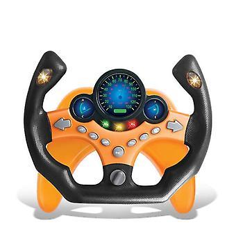 Ohjauspyörä lelu valolla ja äänellä Perämiehen auto lelu